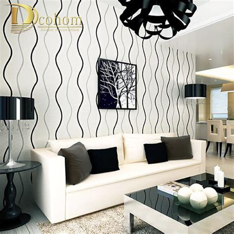 black and white wallpaper bedroom aliexpress buy simple modern 3d stereoscopic wall