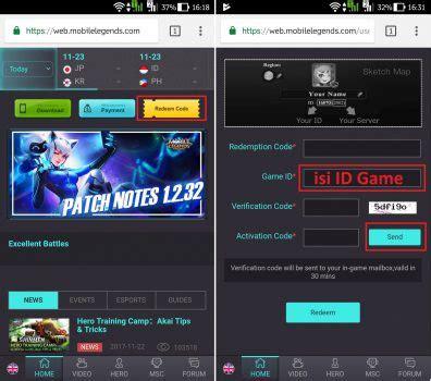 mobile legend web cara redeem kode hadiah mobile legend dengan mudah
