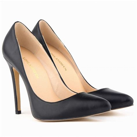 womens high heel steel toe shoes classic pointed toe heels pumps shallow