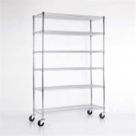heavy duty wire shelving adjustable shelf heavy duty chrome 6 tier steel wire shelving rack