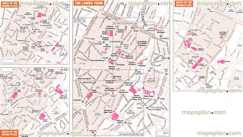 printable map brussels maps update 12001337 brussels tourist map 14 toprated