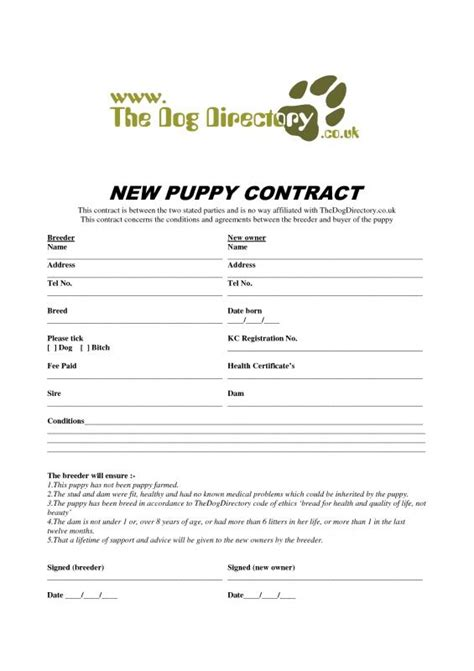 Puppy Receipt Template by Puppy Bill Of Sale Template Business