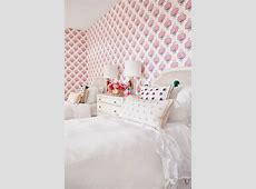 Shared Girl's Room - Transitional - girl's room - Munger ... Red And Black Plaid Wallpaper