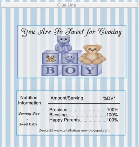 Free Printable Baby Shower Bar Wrappers by Gifts That Say Wow Crafts And Gift Ideas Free