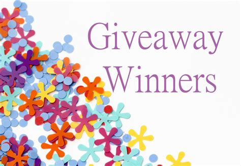 Free Giveaways By Mail - recent giveaway winners congratulations