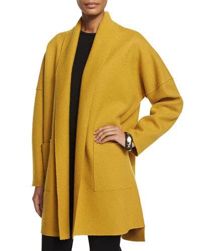 Nm Set Versi 4 Kimono Mustard s coats on sale wrap coat wool coat at neiman