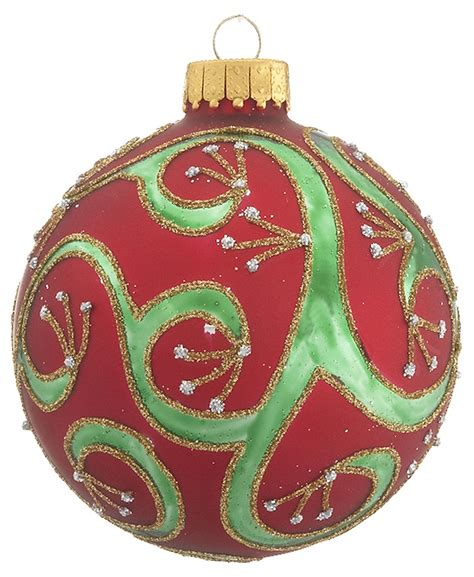 traditional ornaments and green glass ornament traditional