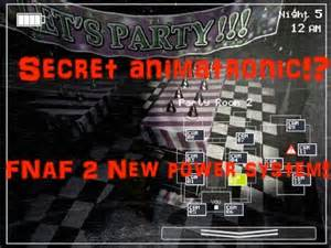 Secret animatronic new power energy system five nights at freddy s 2
