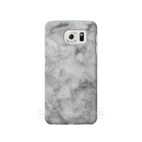 Marble Texture Gray Samsung Galaxy S6 Casing Cover Hardcase gray marble texture samsung galaxy s7 edge best s7e