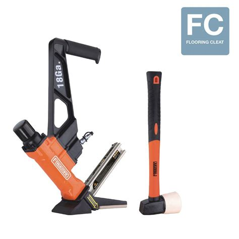 freeman nail guns 18 gauge l cleat flooring nailer