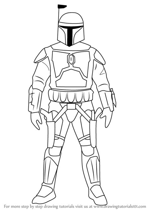 Boba Fett Coloring Pages Printable Boba Best Free Jango Fett Coloring Page