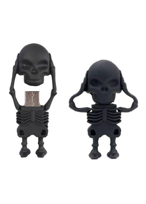 Decay Usb 4gb skeleton flash drive 4mb usb 2 0 attitude clothing