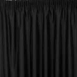 What are the common characteristics of black curtain curtain decor