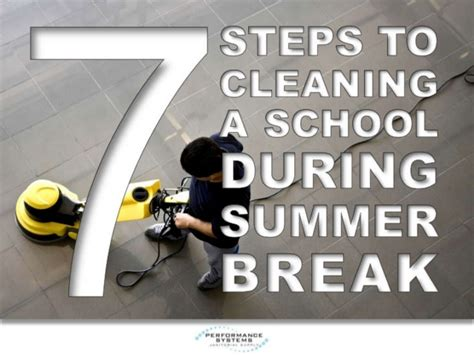 7 Steps To Getting A Leaner This Summer by 7 Steps To Cleaning A School During Summer