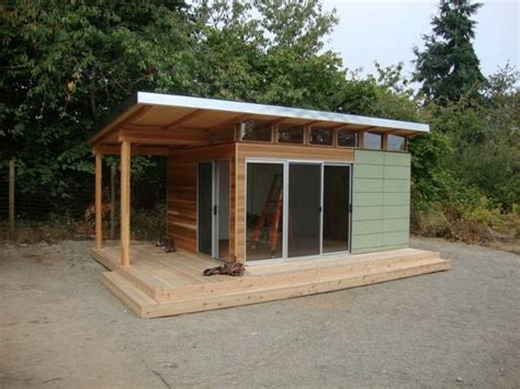 Kit Homes Sheds by Modern Shed Pre Fab Shed Kit 12 X 16 Coastal Prefab