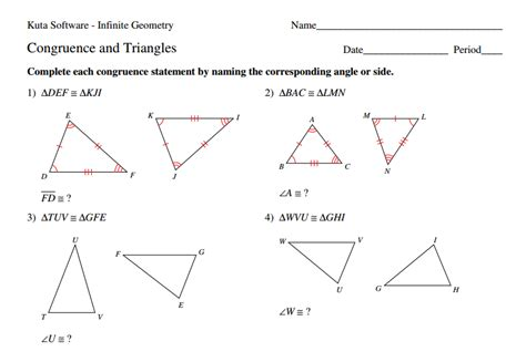 Congruence Worksheets by 8 G 2 Describing A Sequence Of Congruence Strickler Wms