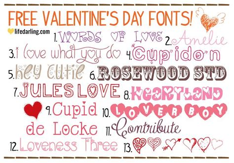 s day list valentine s day free font list i diy