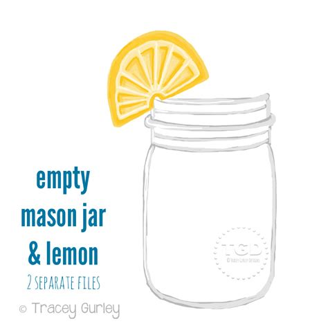 jar clip free watercolor clipart jar lemonade pencil and in
