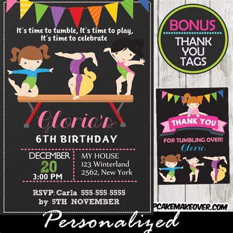 printable gymnastics bookmarks gymnastics birthday invitation balance beam girls