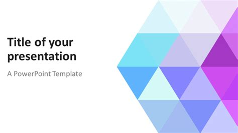 Unique Home Designs by Abstract Powerpoint Template With Pastel Triangles