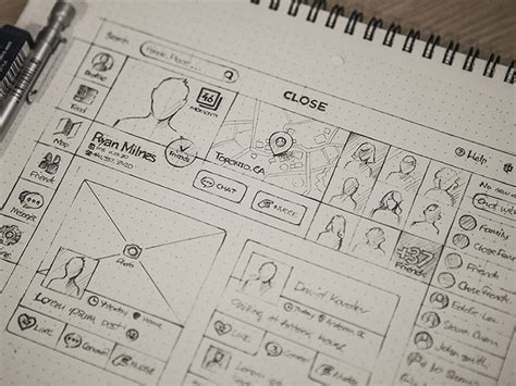 22 Low Fidelity Web Mobile Prototyping Exles Web Graphic Design Bashooka Sketch Templates Wireframes