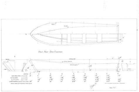 boat plans offsets power outboard boats woodenboat magazine