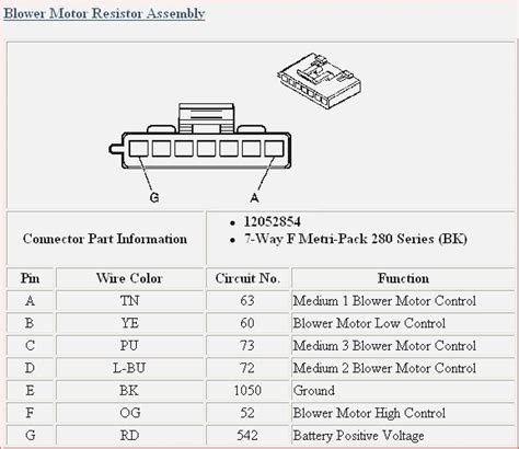 2006 silverado blower resistor wiring diagram free