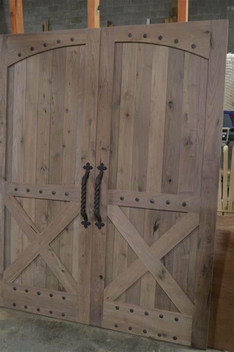 Hand made rustic barn style doors by corey morgan wood works custommade com