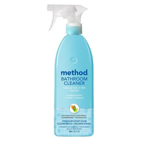 7 Great Bathroom Cleansers by Method Cleaning Products Bathroom Cleaner Tub Tile