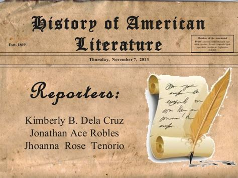early literature history of american literature