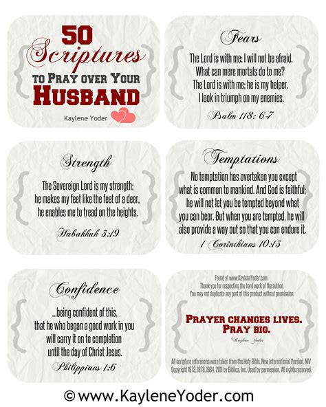 when a husband prays books scripture prayer cards for husbands and kaylene yoder