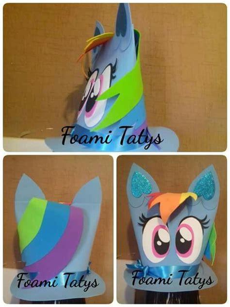 imagenes de unicornios locos sombrero loco rainbown dash my little pony sombreros