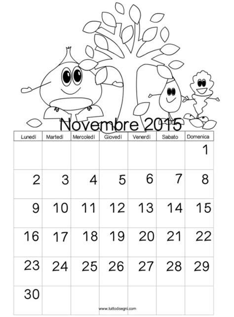 Calendario Novembre Tutto Disegni Disegni Da Colorare Biglietti Auguri