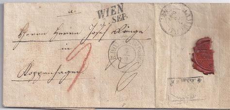 Porto Brief Schweiz Nach Sterreich 214 sterreich hamburg d 228 nemark 1842 teil porto brief v wien