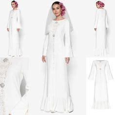 Baju Muslim 35263 C Fiona baju pengantin terkini 2016 2017 rizalman bridalwear tuberose lace kurung fesyen trend terkini