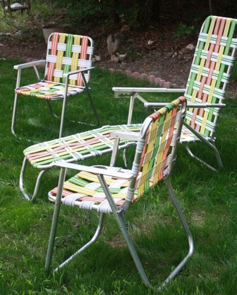 retro aluminum woven folding patio outdoor furniture