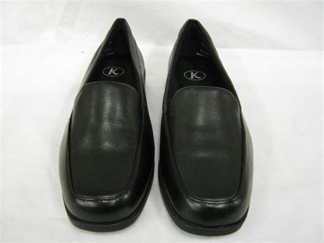 shoe size ee k by clarks black leather shoe ee width