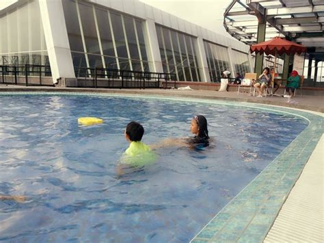 Swiss Belhotel Cirebon swimming pool is on 3rd floor near by csb cinere