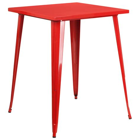 square bar height table 31 5 square bar height metal indoor outdoor table