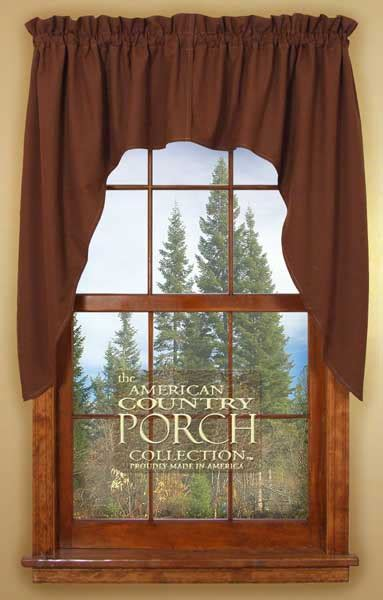 brown swag curtains solid brown window curtain swags