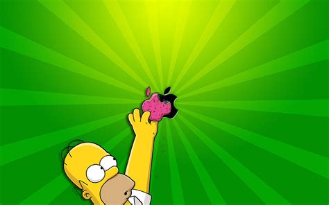 wallpapers apple homer simpson homer simpson apple wallpaper hd desktop wallpapers 4k hd
