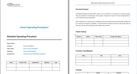 standard operating procedures templates template for sop sle essay analysis