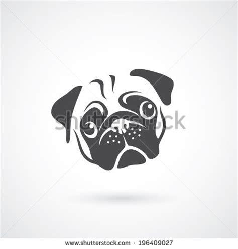 pug outline vector outline illustration pug stock vector breeds picture