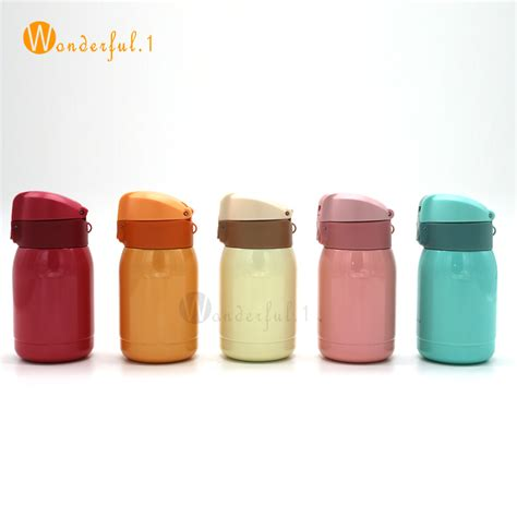 Children Colorful Creative Portable Cup Drink Bottle Botol M 200ml mini thermos coffee vacuum flask stainless steel drink water bottle termos thermo cup and