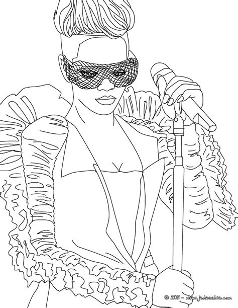 Cardi B Coloring Pages by Coloriages Coloriage Rihanna Masque Gratuit Fr Hellokids