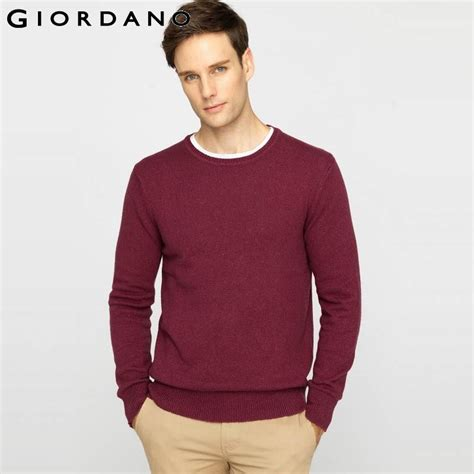Sweater Giordano giordano solid sweater knitted woolen blend jumpers crew neck sweaters wear for