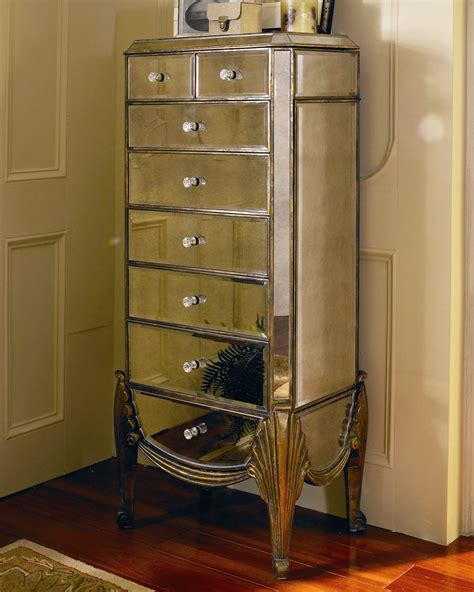 mirrored armoire for jewelry claudia mirrored jewelry armoire on popscreen