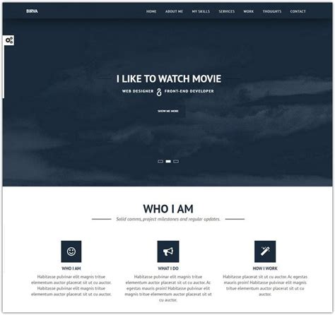 portfolio responsive template 80 awesome css and html website templates web resources