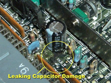 fix leaking capacitor image gallery leaking capacitor