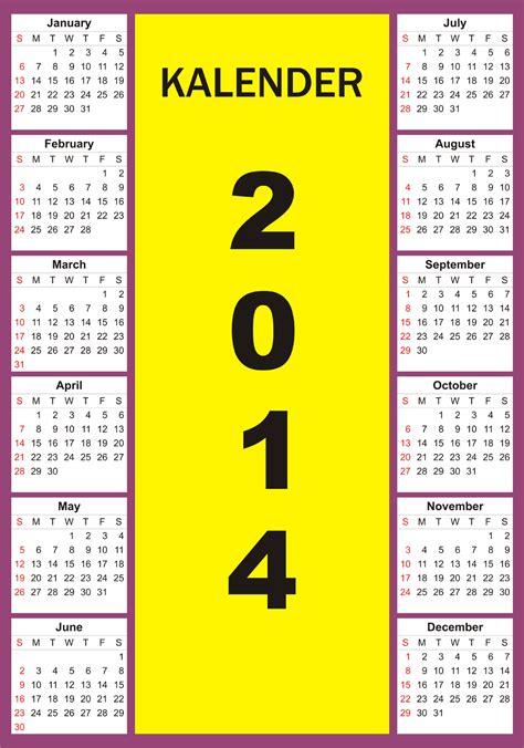 desain kalender 1 halaman desain kalender 2014 corel draw pictures
